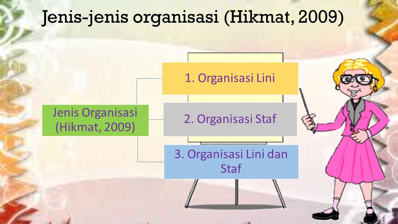 Jenis-jenis organisasi (Hikmat, 2009)