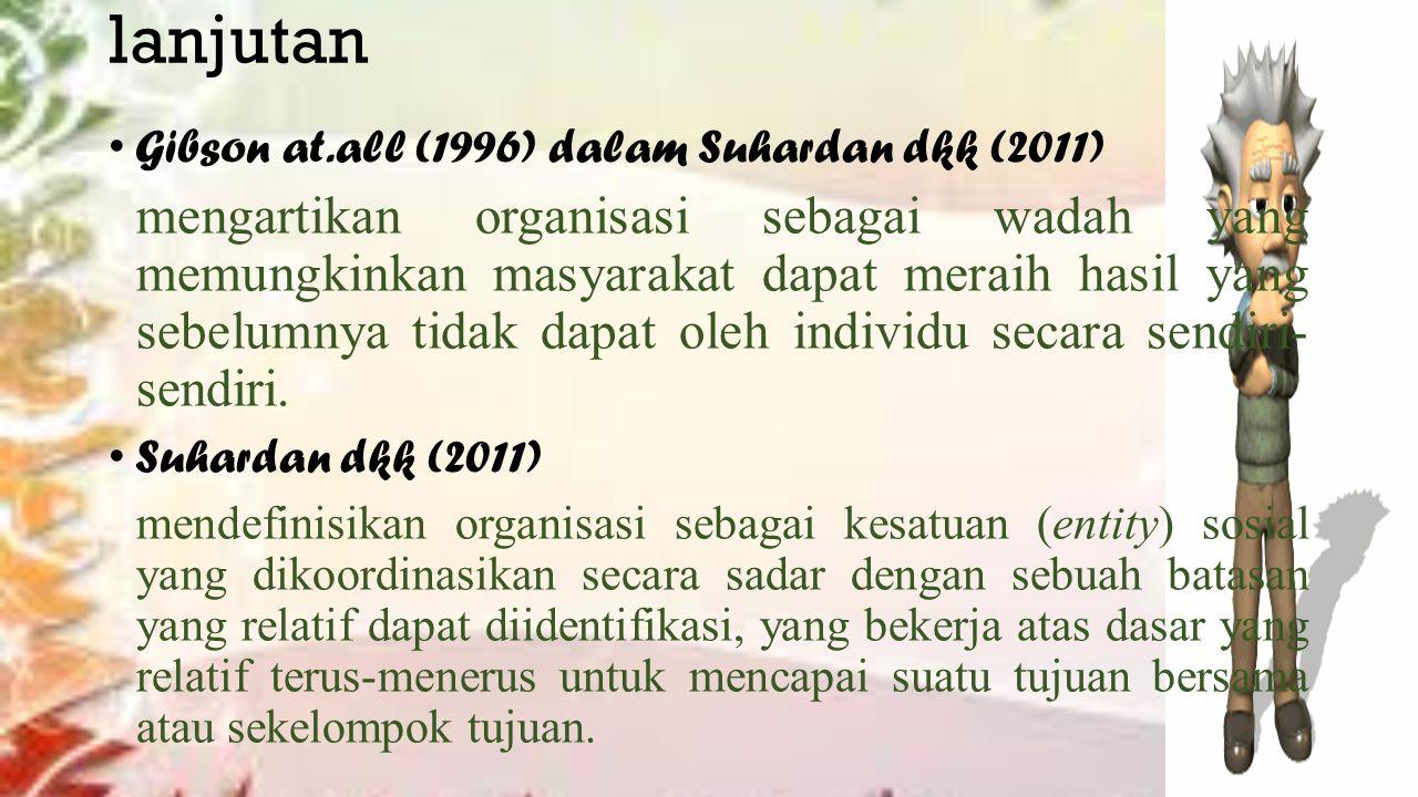 lanjutan Gibson at.all (1996) dalam Suhardan dkk (2011)