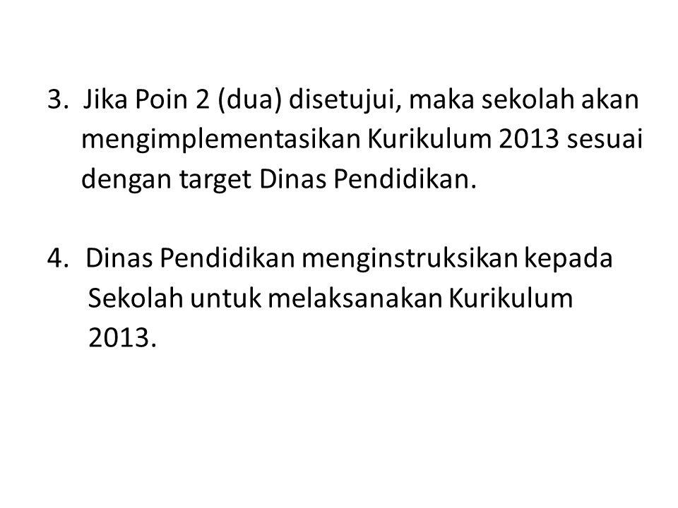 3. Jika Poin 2 (dua) disetujui, maka sekolah akan