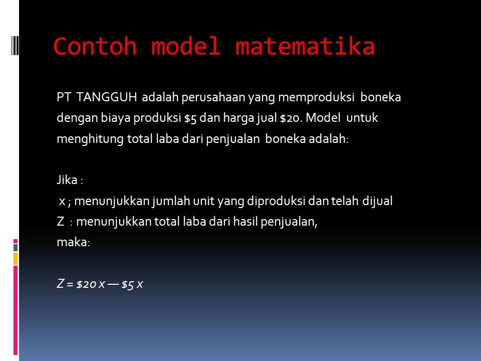 Contoh model matematika