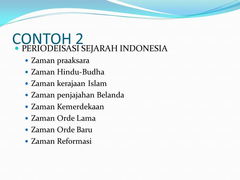 CONTOH 2 PERIODEISASI SEJARAH INDONESIA Zaman praaksara