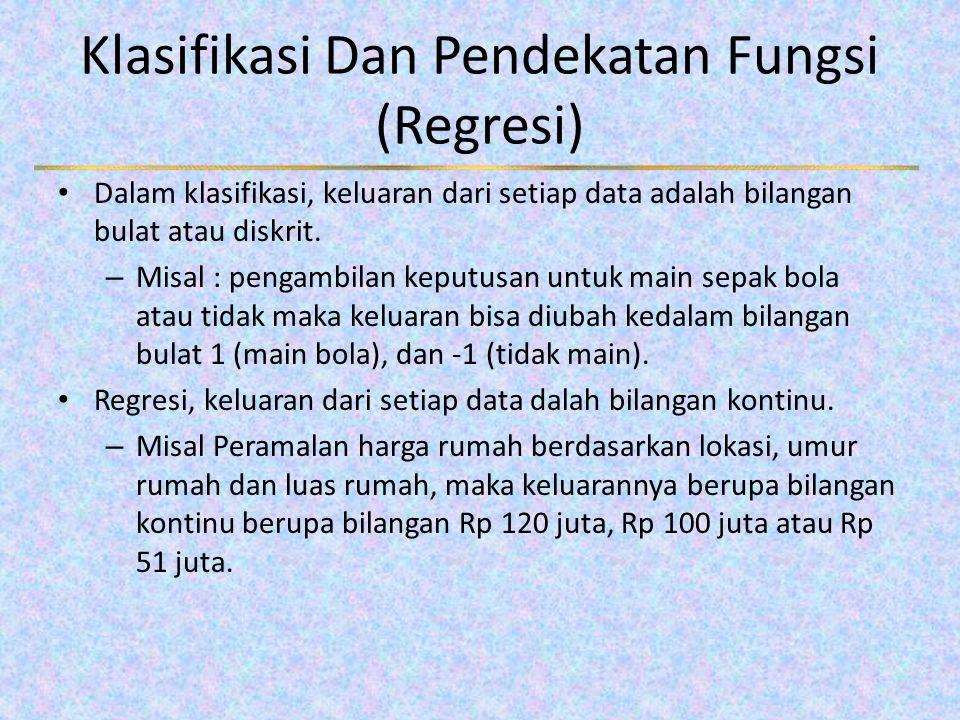 Klasifikasi Dan Pendekatan Fungsi (Regresi)