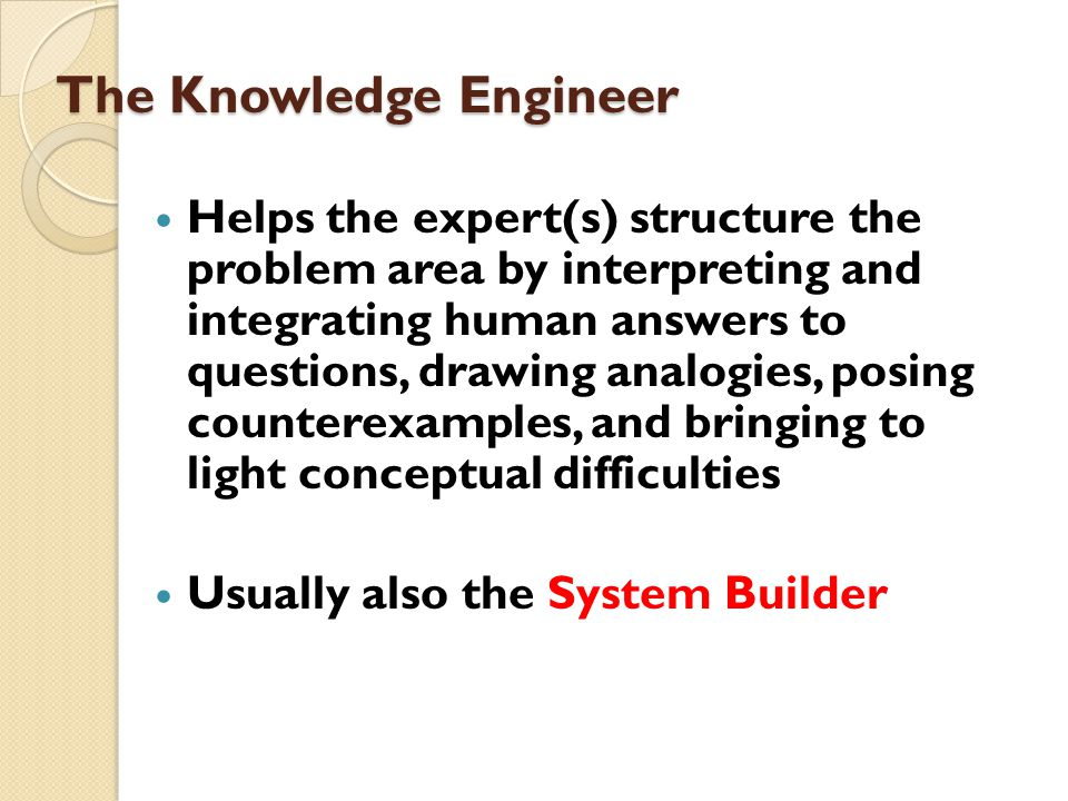 The Knowledge Engineer