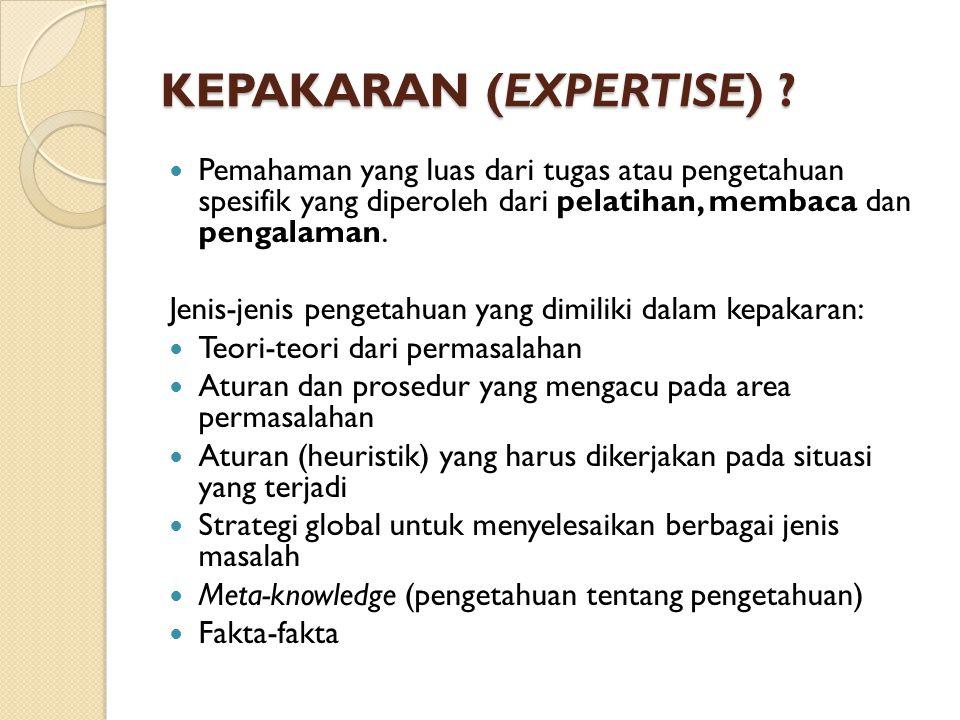 KEPAKARAN (EXPERTISE)