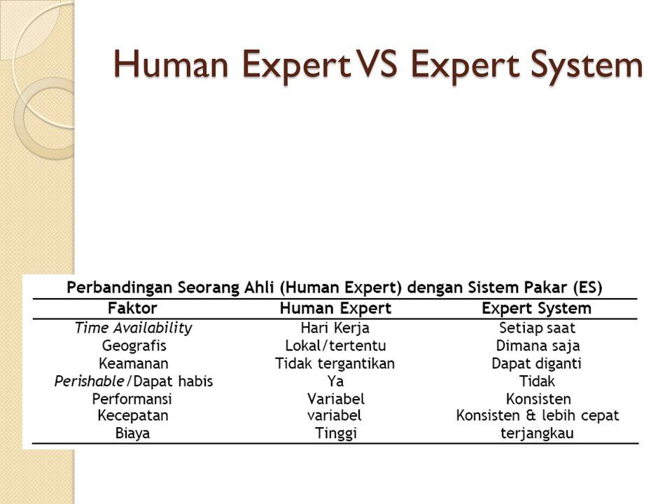 Human Expert VS Expert System