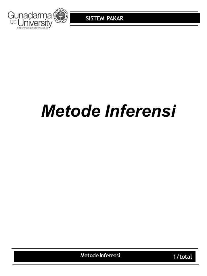 Metode Inferensi Metode Inferensi