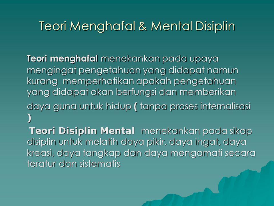 Teori Menghafal & Mental Disiplin