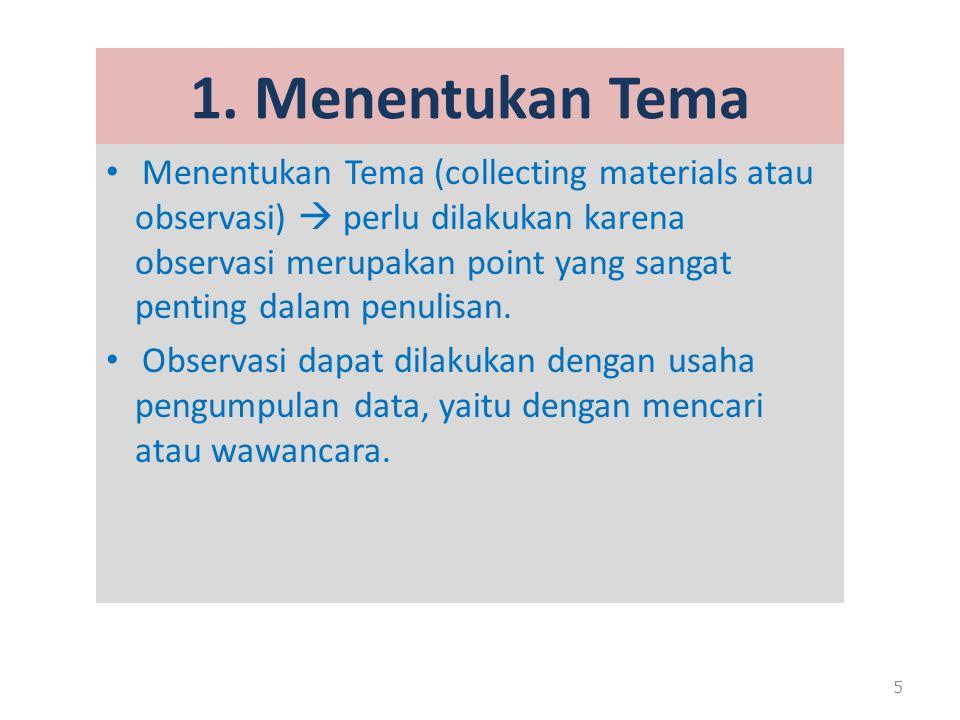 1. Menentukan Tema