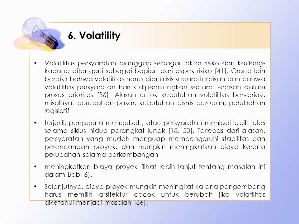 6. Volatility