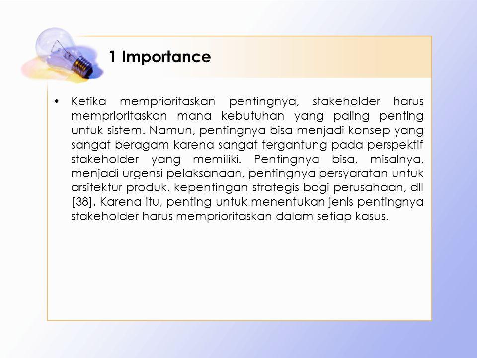 1 Importance