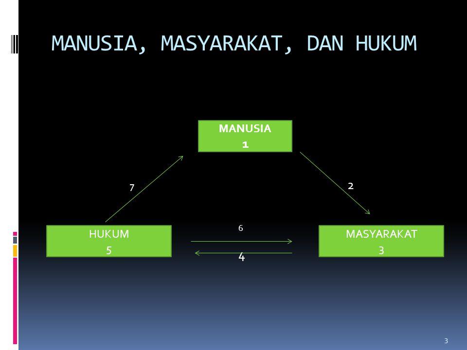 MANUSIA, MASYARAKAT, DAN HUKUM