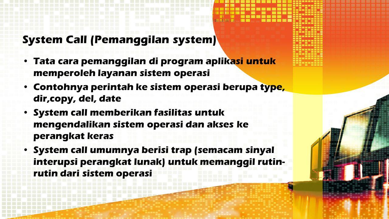 System Call (Pemanggilan system)