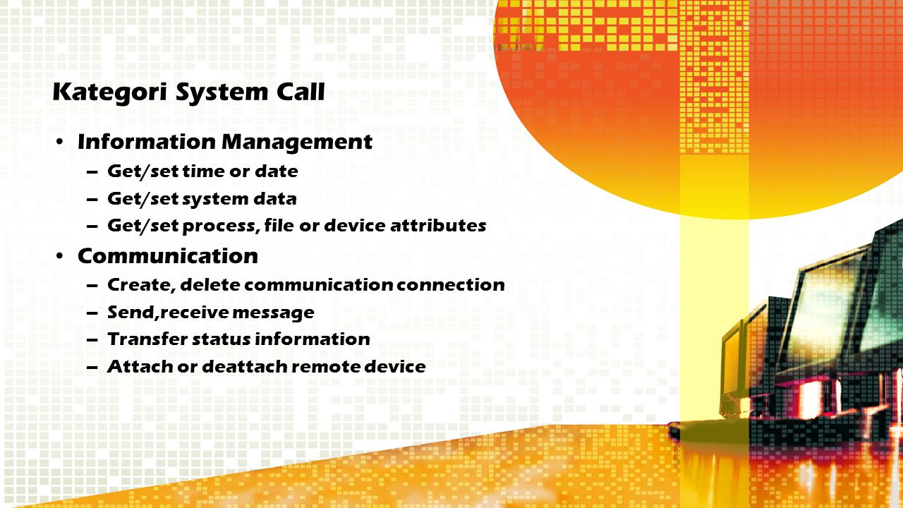 Kategori System Call Information Management Communication