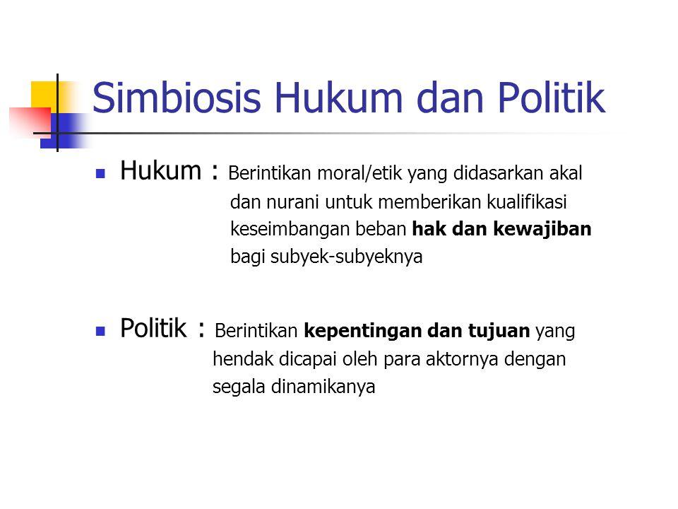 Simbiosis Hukum dan Politik