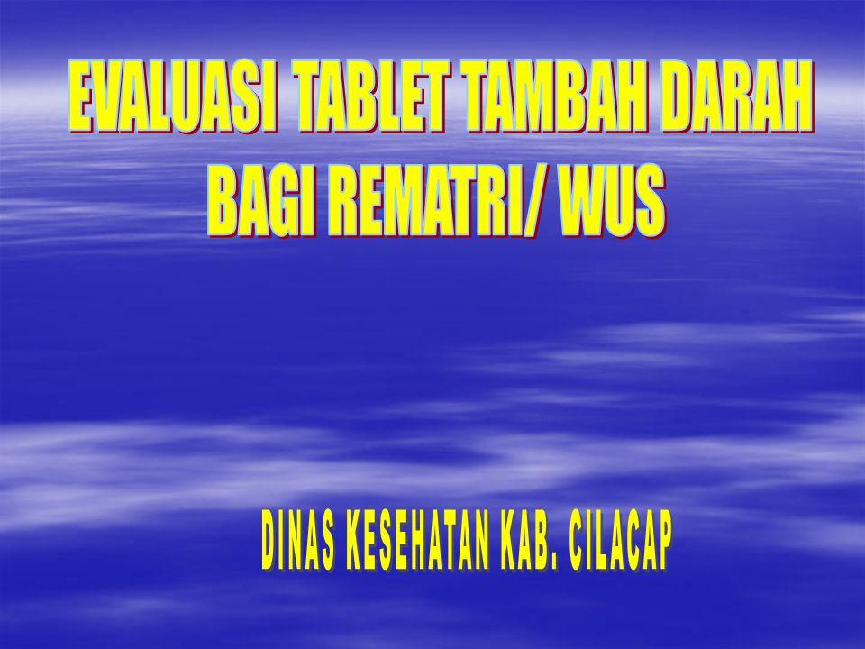 EVALUASI TABLET TAMBAH DARAH BAGI REMATRI/ WUS