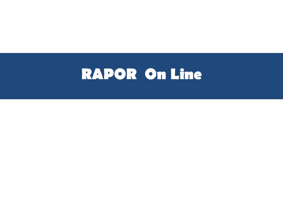 RAPOR On Line