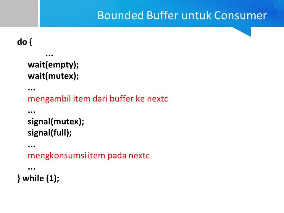 Bounded Buffer untuk Consumer