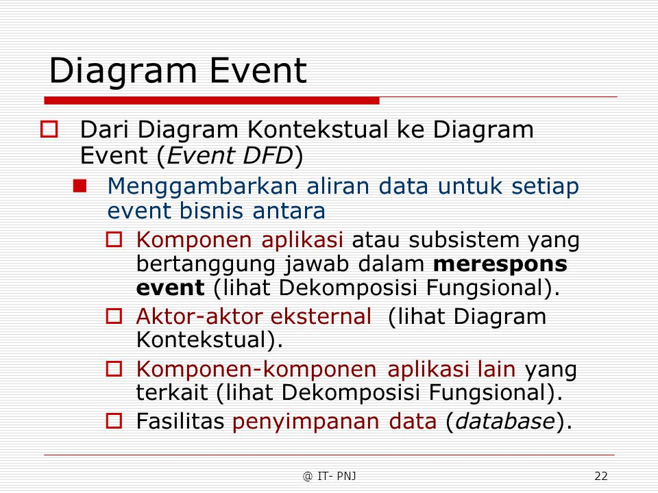 Diagram Event Dari Diagram Kontekstual ke Diagram Event (Event DFD)
