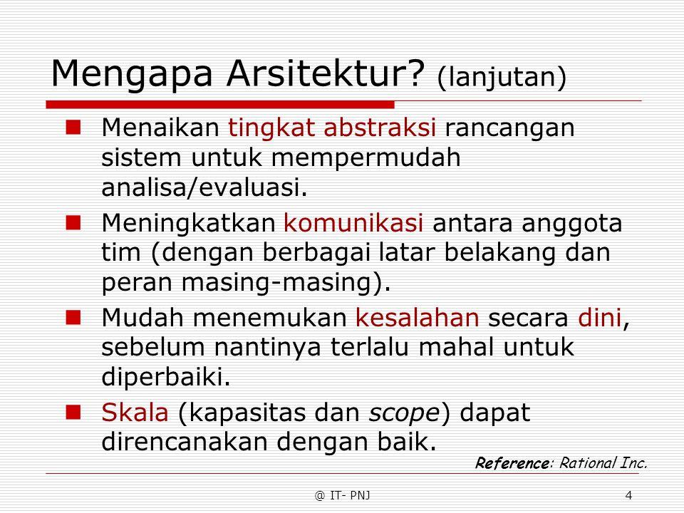 Mengapa Arsitektur (lanjutan)