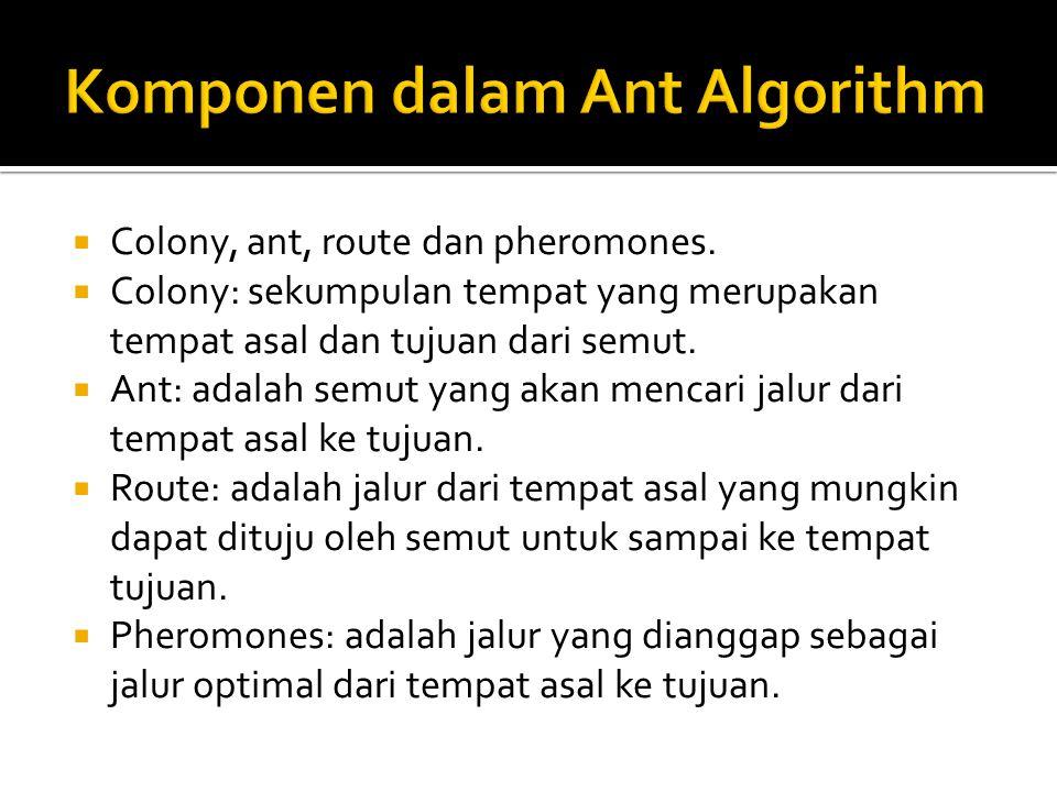 Komponen dalam Ant Algorithm