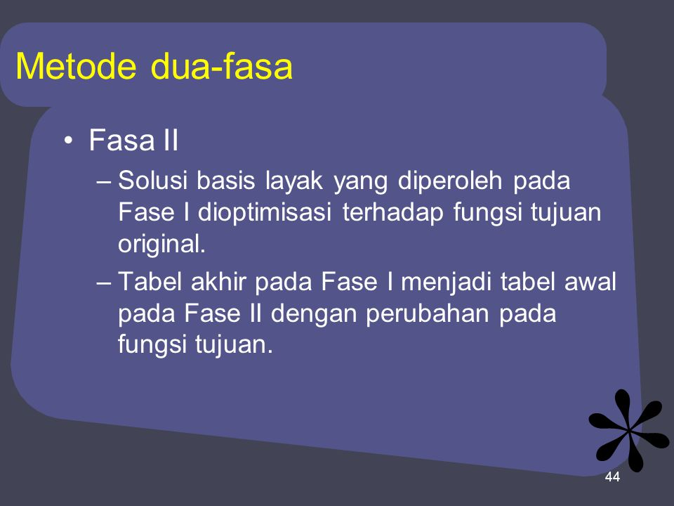 Metode dua-fasa Fasa II