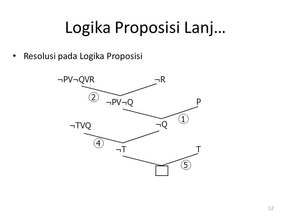 Logika Proposisi Lanj…
