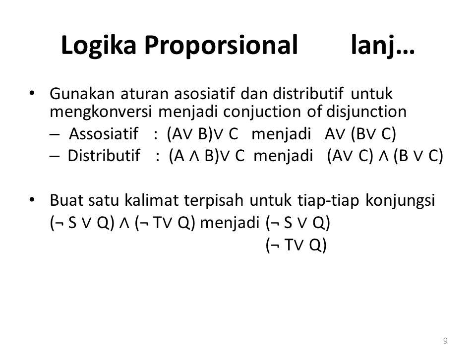 Logika Proporsional lanj…