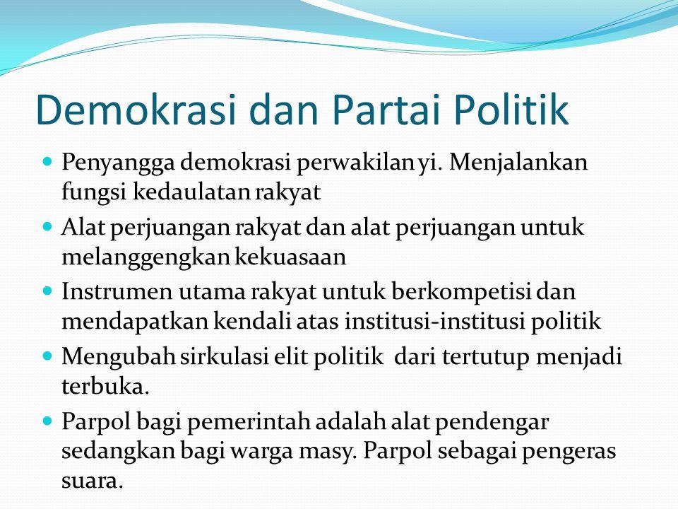 Demokrasi dan Partai Politik