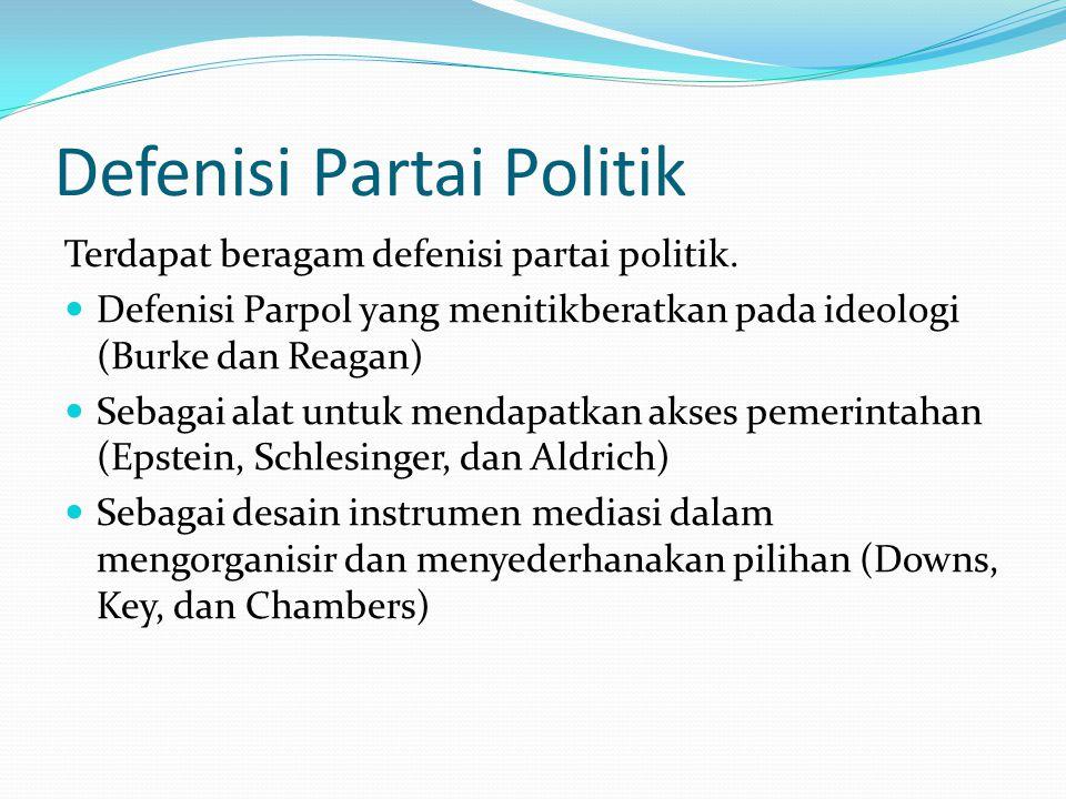 Defenisi Partai Politik