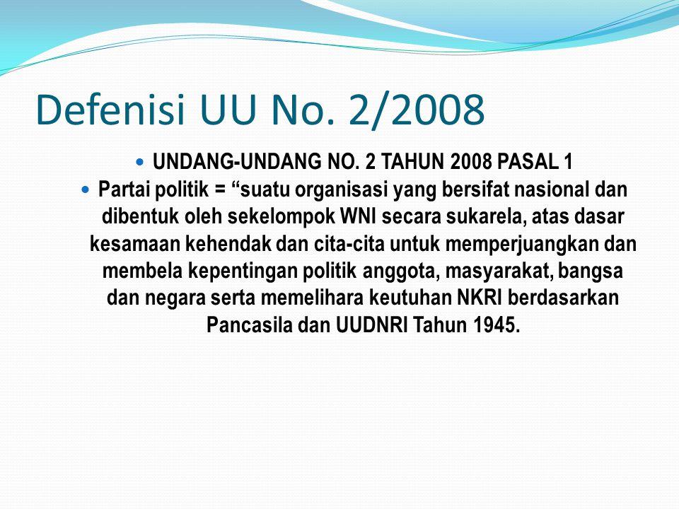 UNDANG-UNDANG NO. 2 TAHUN 2008 PASAL 1
