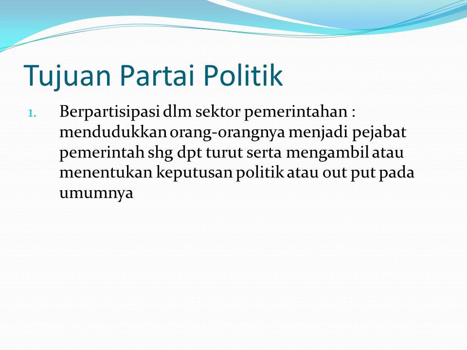 Tujuan Partai Politik