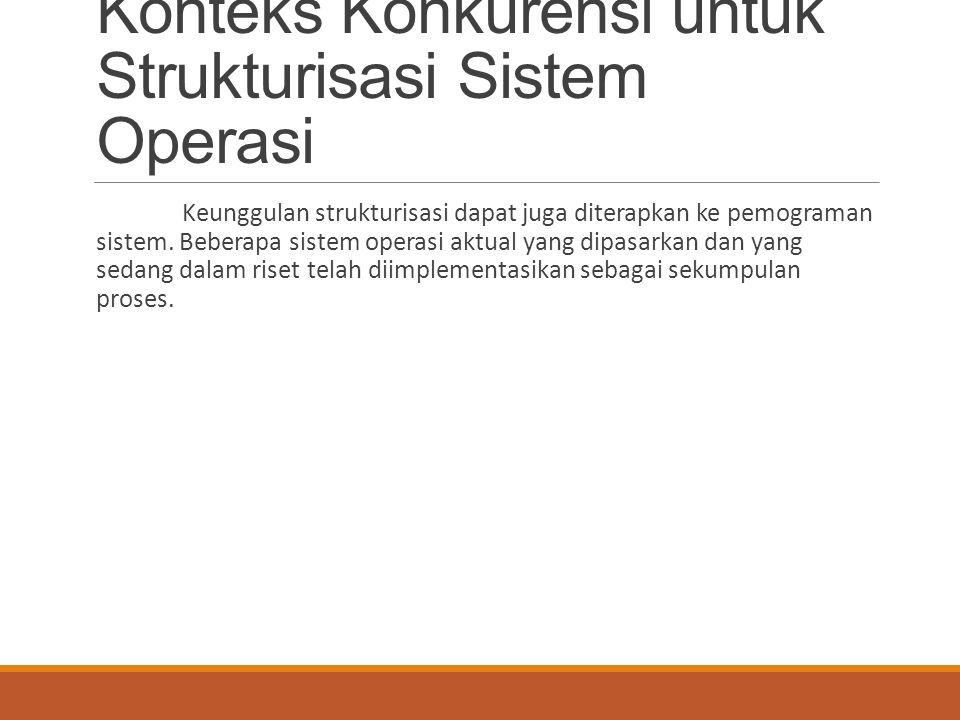 Konteks Konkurensi untuk Strukturisasi Sistem Operasi