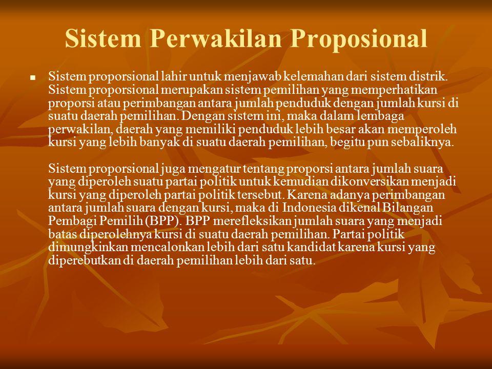 Sistem Perwakilan Proposional