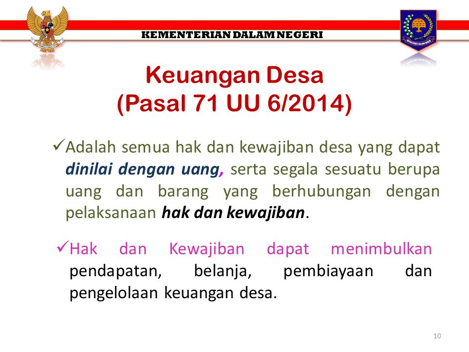 Keuangan Desa (Pasal 71 UU 6/2014)