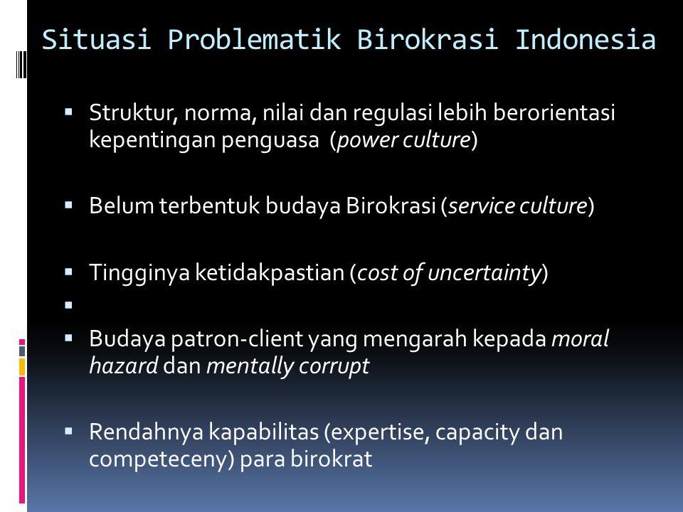 Situasi Problematik Birokrasi Indonesia