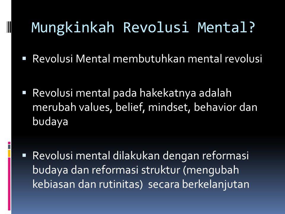 Mungkinkah Revolusi Mental
