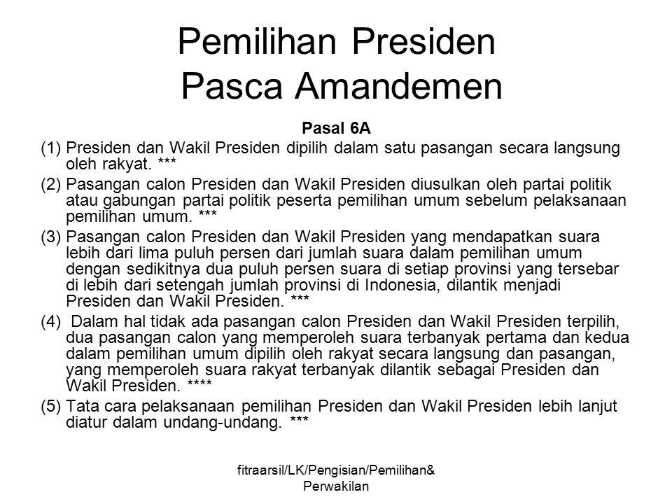 Pemilihan Presiden Pasca Amandemen