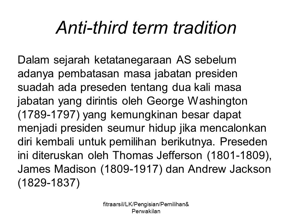Anti-third term tradition