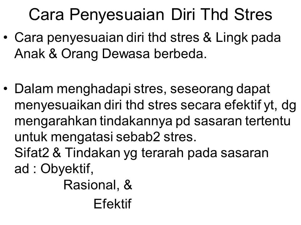 Cara Penyesuaian Diri Thd Stres