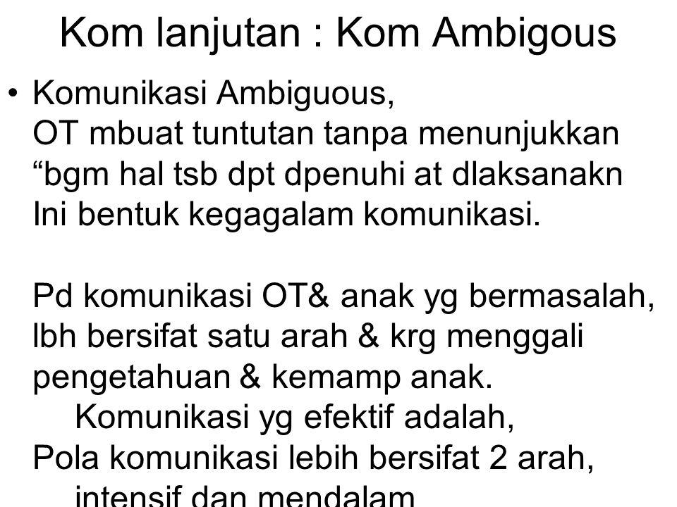 Kom lanjutan : Kom Ambigous