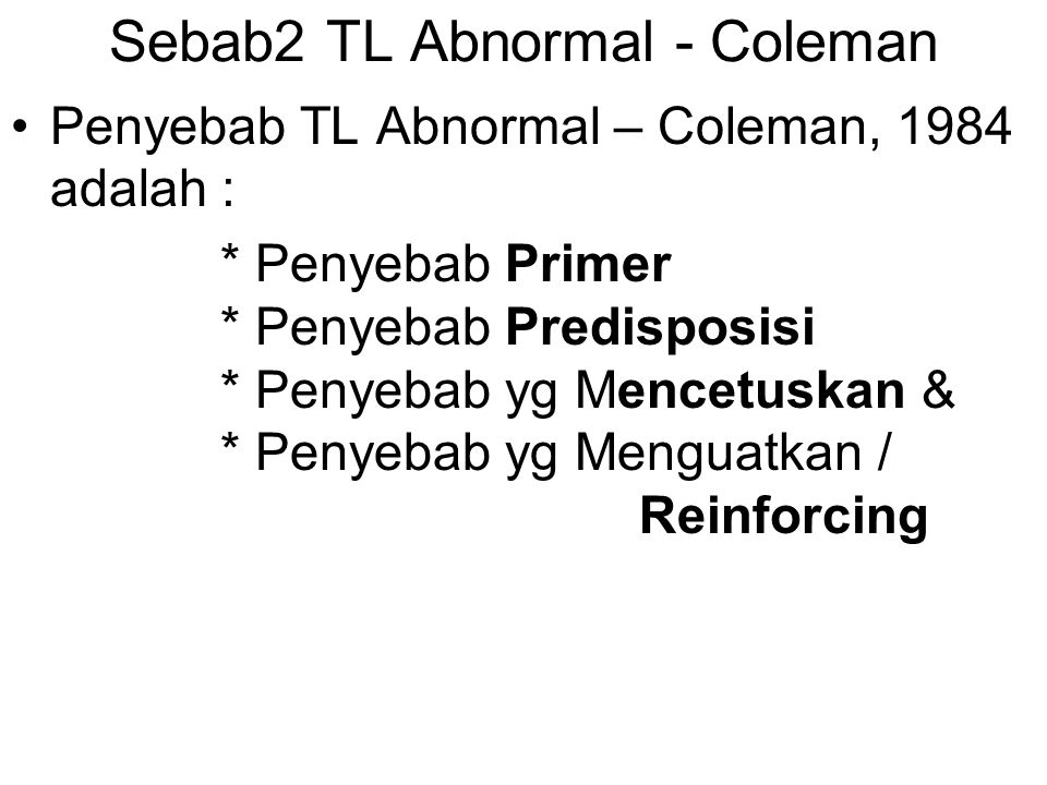 Sebab2 TL Abnormal - Coleman