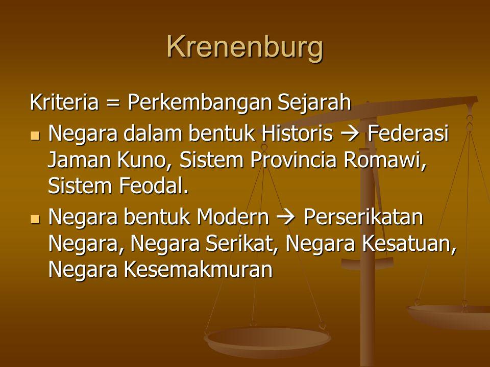 Krenenburg Kriteria = Perkembangan Sejarah