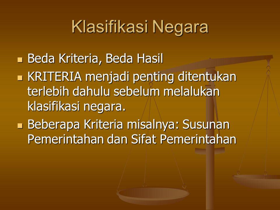 Klasifikasi Negara Beda Kriteria, Beda Hasil