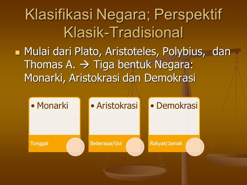 Klasifikasi Negara; Perspektif Klasik-Tradisional