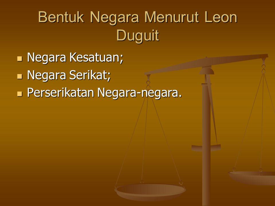 Bentuk Negara Menurut Leon Duguit