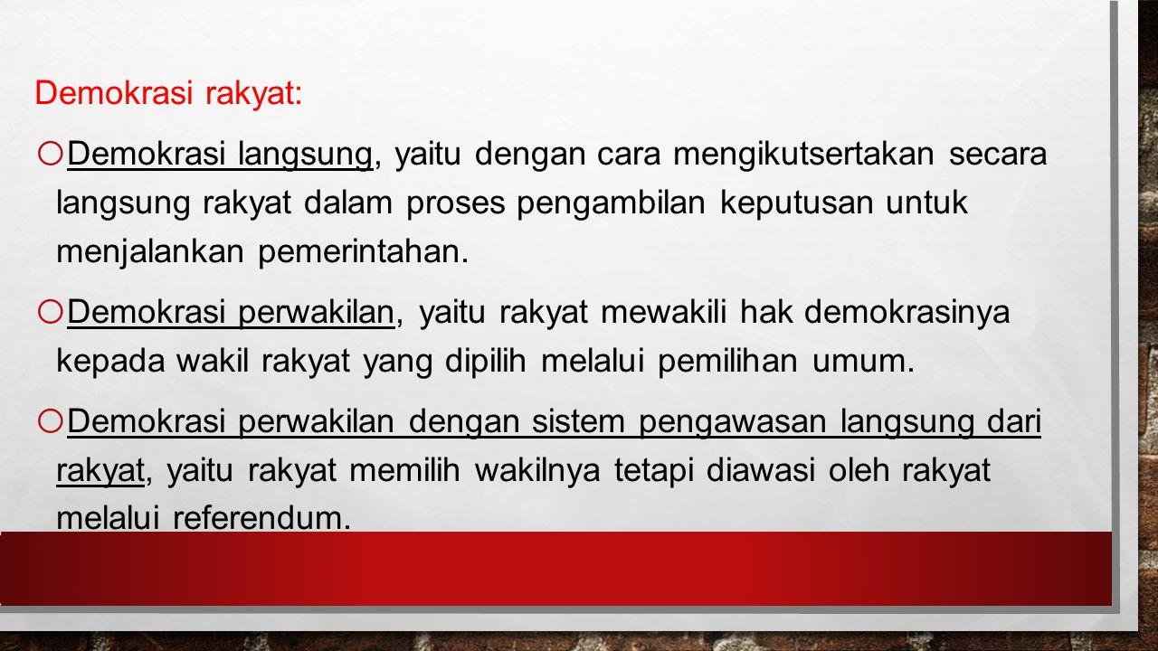 Demokrasi rakyat: