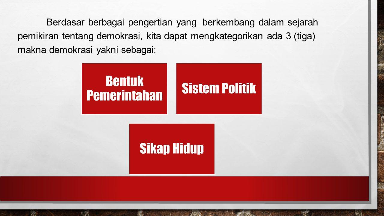 Bentuk Pemerintahan Sistem Politik Sikap Hidup