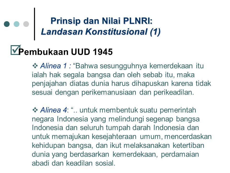Prinsip dan Nilai PLNRI: Landasan Konstitusional (1)