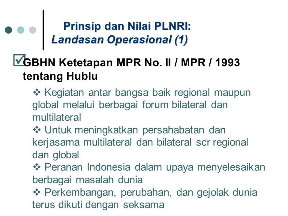 Prinsip dan Nilai PLNRI: Landasan Operasional (1)