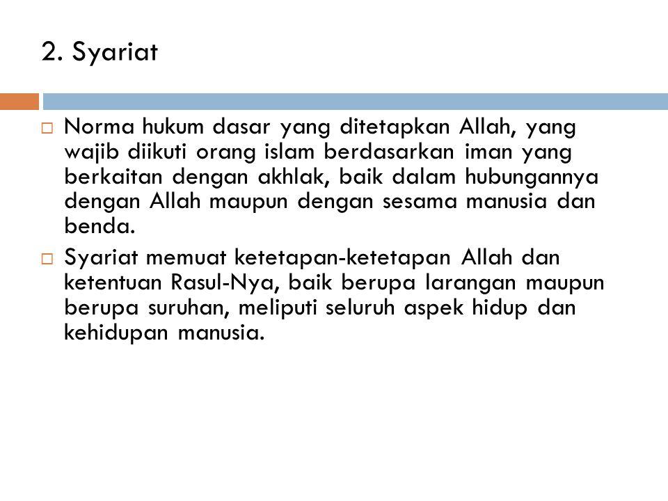 2. Syariat